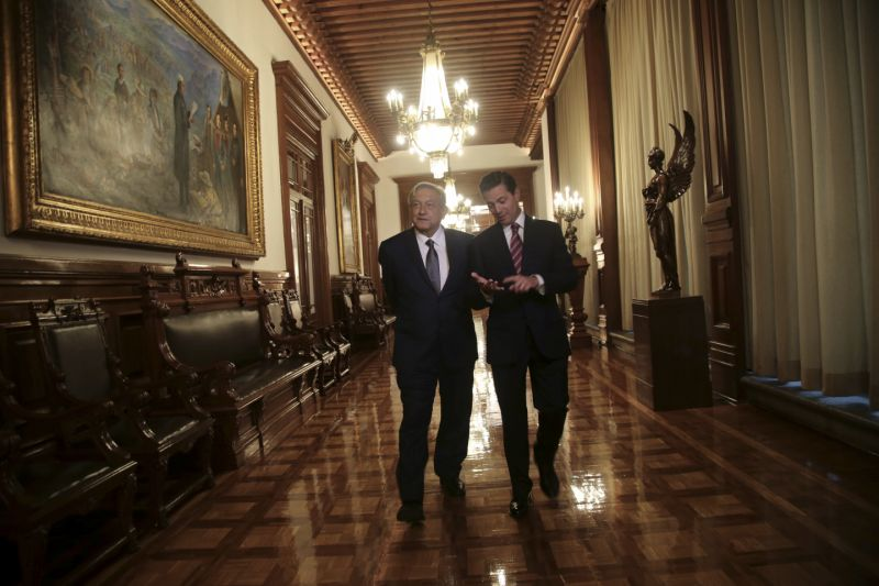Mexico's President-elect talks security with current administration