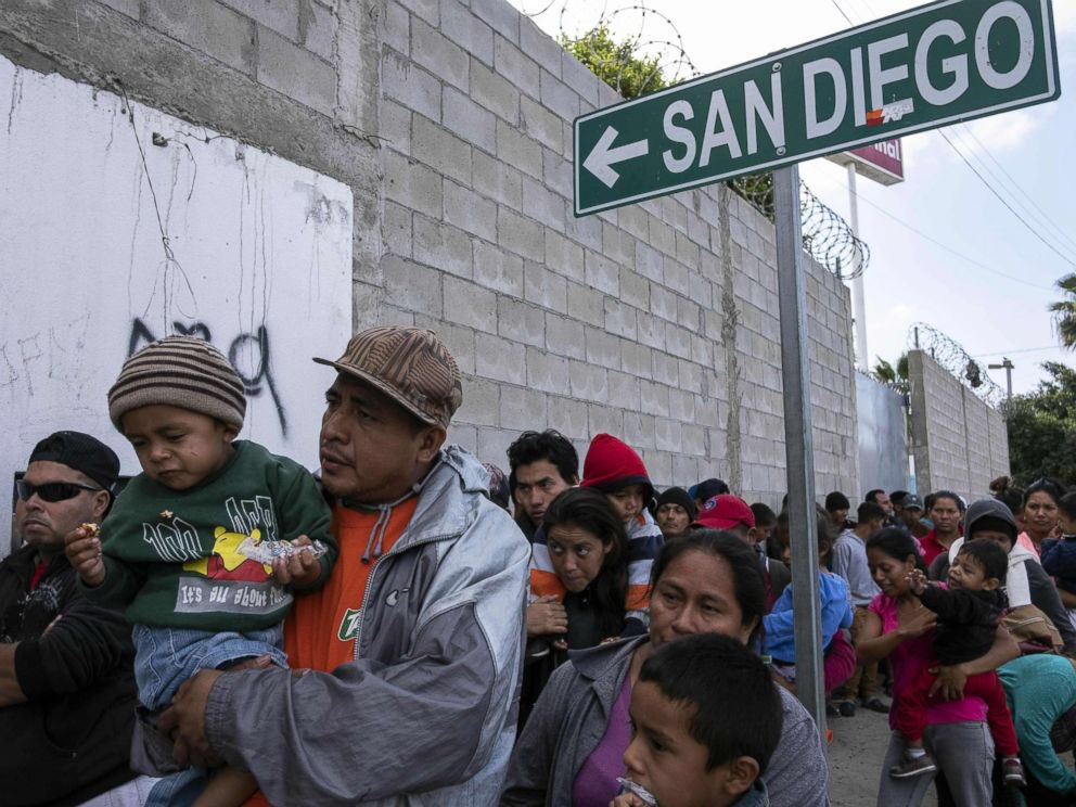 Still hundreds of miles to the US border: Migrants begin to enter Mexico City