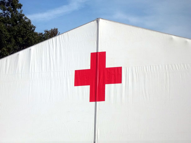 Red Cross volunteer and three police men killed by armed group of 20 attackers